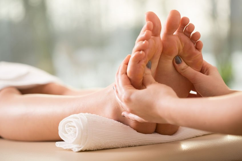 Reflexology treatments at Heaven Therapy beauty salon in Cullercoats, Tynemouth, Whitley Bay