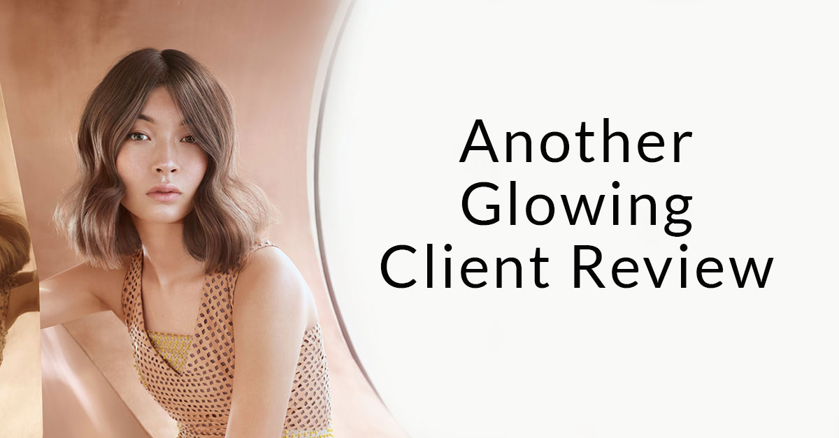 another-glowing-client-review-at heaven therapy beauty salon in tynemouth whitley bay