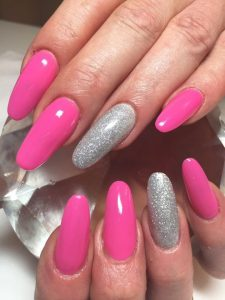 Acrylic nails at Heaven Therapy beauty salon Whitley Bay Tynemouth Wallsend North Shields Killingworth Blyth Cramlington Shiremoor