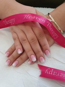 ombré nails in tynemouth at heaven therapy beauty salon