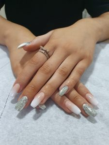 french ombre nails at heaven therapy beauty salon north shields