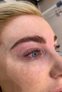 brow lamination at heaven therapy beauty salon cullercoats