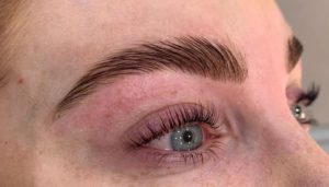 Fluffy brow lamination at heaven therapy brow salon Whitley Bay Tynemouth Wallsend North Shields Killingworth Blyth Cramlington Shiremoor