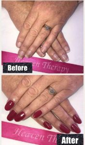 nail enhancements at heaven Therapy beauty salon Whitley Bay North Shields Wallsend tyne & wear