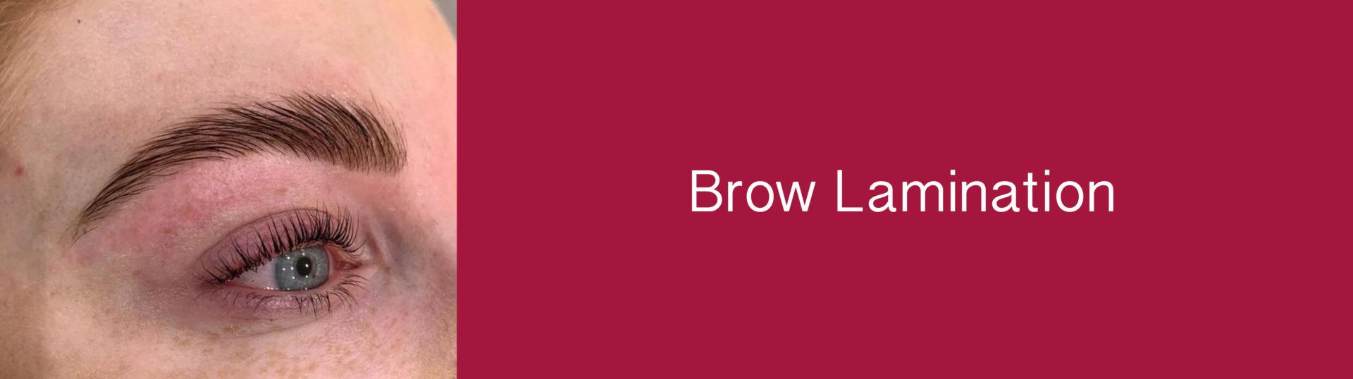 Brow Lamination whitley Bay Salon
