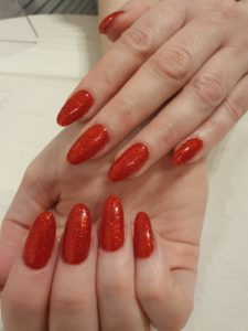 Acrylic nails at Heaven Therapy beauty salon Whitley Bay, Tynemouth, Wallsend, North Shields, Killingworth, Blyth, Cramlington, Shiremoor