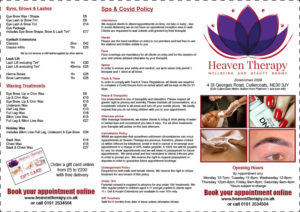 heaven therapy leaflet