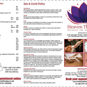 Order a Heaven Therapy Price List